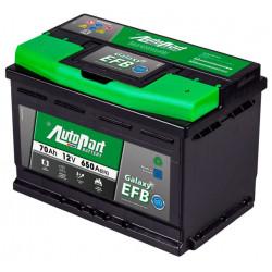 Bateria arranque Galaxy EFB 70AH 650A