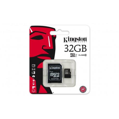 Tarjeta Micro SD 32GB + Adaptador