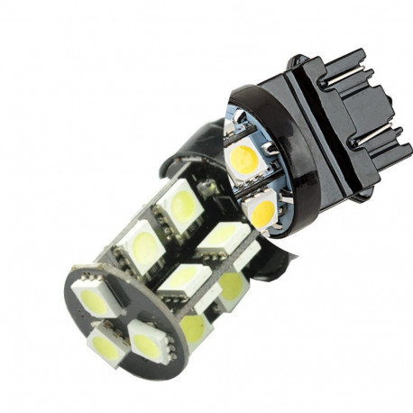 2 Bombillas led Tipo 7443 60 leds tipo 3528 Dual color 9-32V