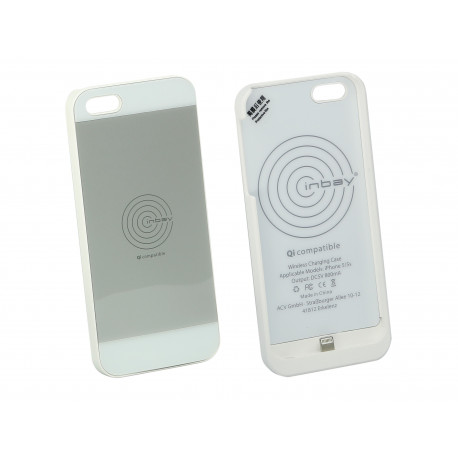 Inbay® Funda de carga iPHONE 5/5S BLANCA
