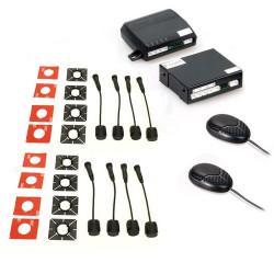 Kit 8 Sensores de Aparcamiento SteelMate color negro con 2 zumbadores