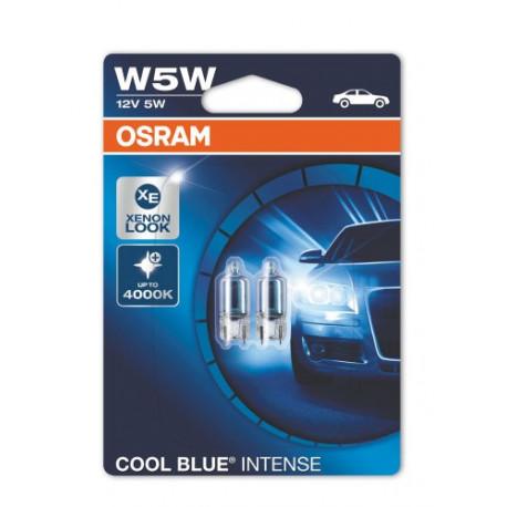Blister 2 lámparas W5W OSRAM COOL BLUE INTENSE 2825HCBI W2,1X1,9,5d 12V 02B