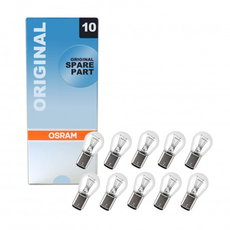Caja 10 lámparas OSRAM BAZ15d 12V 21/4W P21/4W