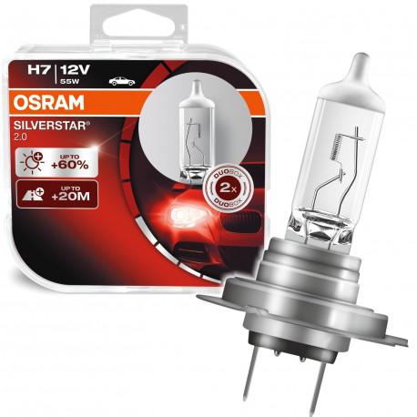 Blister 2 Lámparas OSRAM SILVERSTAR 2.0 H7 12V 55W PX26d