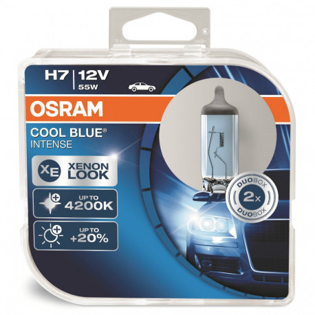 Blister 2 Lámparas OSRAM COOL BLUE INTENSE H7 12V 55W PX26d