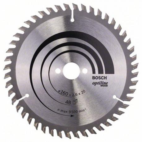 Disco circular Bosch 160 x 20/16 x 2,6 mm, 48