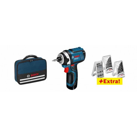 Atornillador a batería Bosch GSR 10,8-2-LI Professional+ 39ACC+ 2 BAT. 1,5 Ah