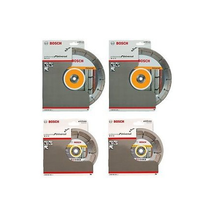 Pack 2 discos de diamante Bosch Standard for Universal 230mm + 1 tuerca SDS-Click gratis.