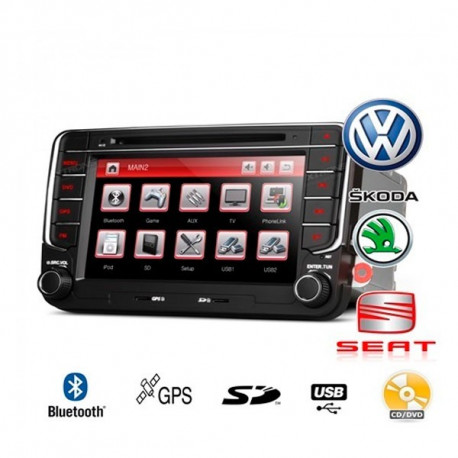 "Radio DVD GPS para Skoda VW Seat LCD 7"" HD Tactil BT Canbus"