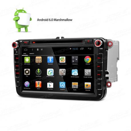 "Radio DVD GPS 2Din LCD Táctil 7"" HD para Seat Skoda y VW"