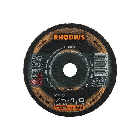 Disco de corte inox Rhodius XT10-115x1,5MM