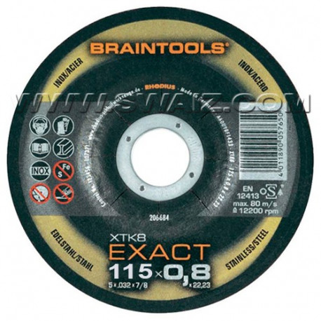 RHO206683 Disco extrafino Rhodius inox XTK8-115x0,8