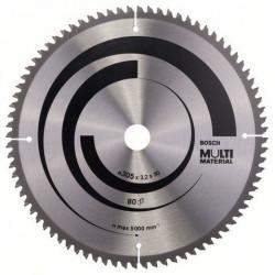 Disco sierra circular Bosch 210mm Multimaterial 80 dientes