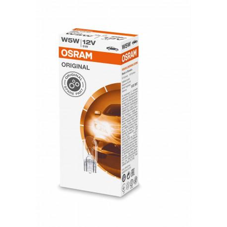 Caja 10 lámparas W5W OSRAM  2825 W2,1X1,9,5d 12V 02B