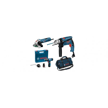 Combo Bosch GSB13RE + GWS7-115 + GSB1080-2-LI