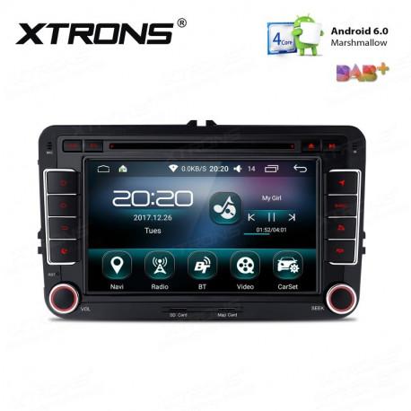 "Radio GPS 2Din LCD HD 9"" 64Bit Wifi 4G Android 6.0 para Volkswagen Seat y Skoda"