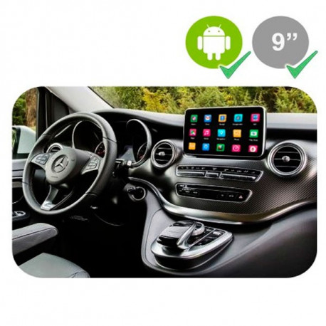"""MERCEDES CLASE A/B/CLA/GLA (2012 - 2015) - MERCEDES NTG 4.5 LCD GPS TACTIL 8"""" - ANDROID 7.1.2"""
