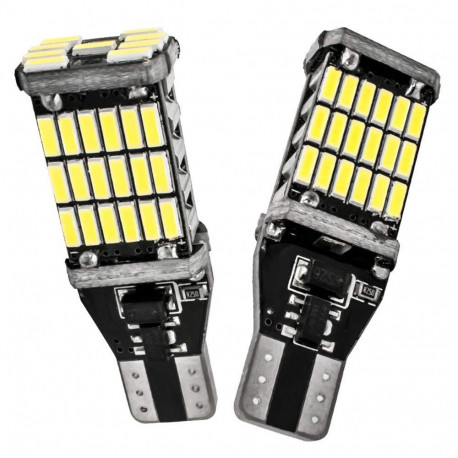 2 Bombillas led T10 WHITE 12V-24V CANBUS