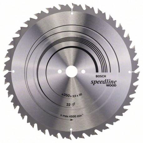 Hoja de sierra circular Speedline Wood 350x30 32 dientes