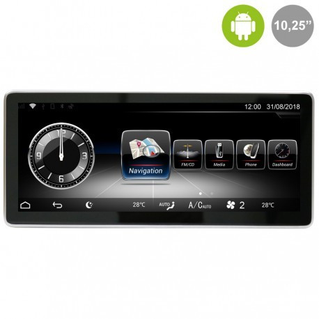 """MERCEDES CLASE A/B/CLA/GLA NTG4.5 (2012-2015) - ANDROID 10,25"""""""