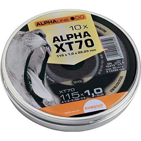 RHO207808 Disco corte inox Rhodius LATA XT70X115X1