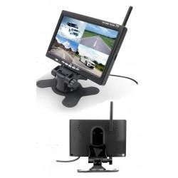 """Monitor digital de 7"""" - 4 x Entradas de Vídeo"""