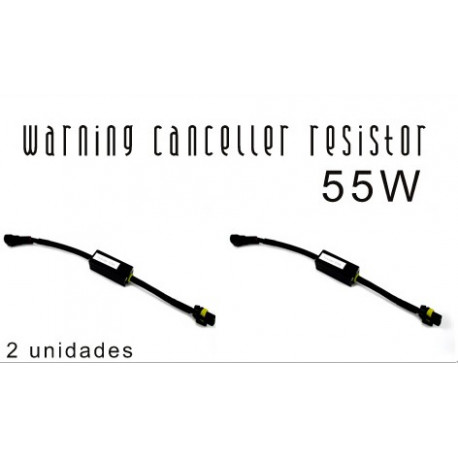 2 Cables Warning Canceller Resistor 55W