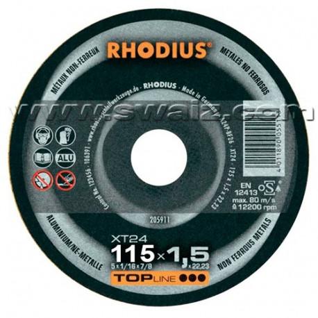 RHO205910 Disco Rhodius corte Especial  Alu XT24-115X1,5