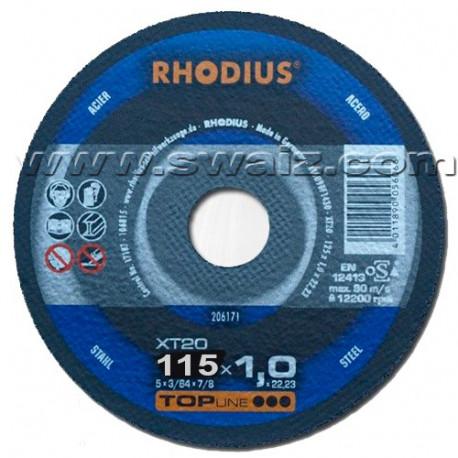 RHO206170 Disco corte Acero Rhodius XT20-115X1
