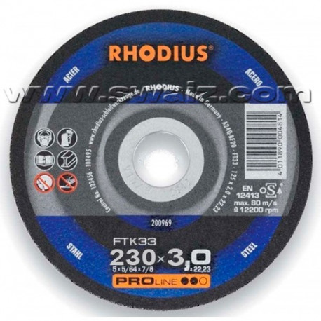 RHO200943 Disco Rhodius FTk33-230X3
