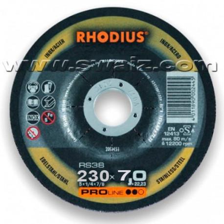 RHO200466 Disco desbaste Rhodius RS38-230X7