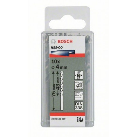 2608585885 Broca cobalto Bosch 5mm -paq. 10 unid
