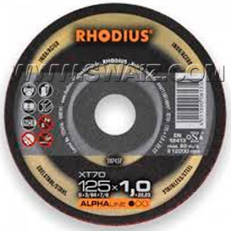 RHO207437 Disco corte inox Rhodius XT70-125X1