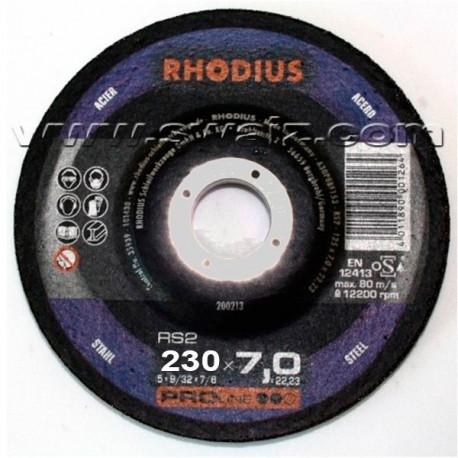 Disco de desbaste Rhodius RS2-230X7