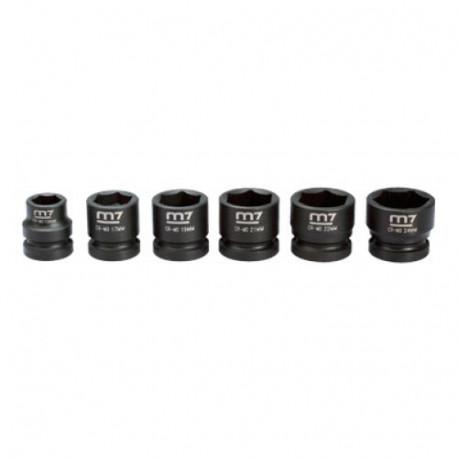 """Juego de mini vasos de impacto 1/2"""" - 6 Piezas"""