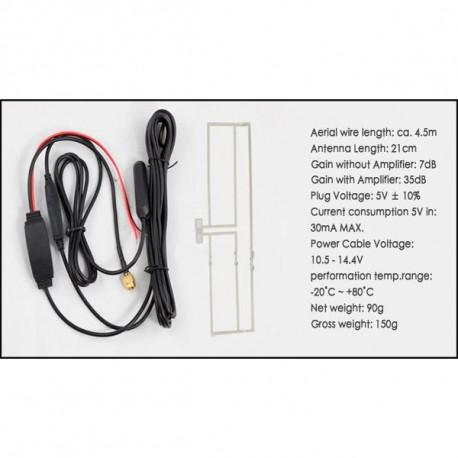 Antena TDT de pegar con conector SMA