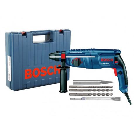 Martillo Bosch GBH 2400 + MALETIN + ACCESORIOS