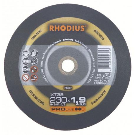 Disco de corte Rhodius 230mm PROLINE XT38 230x1,9