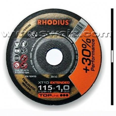 RHO206162 Disco corte inox Rhodius XT10-115X1