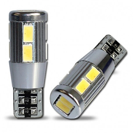 2 Bombillas led Tipo T 10 10  5630SMD canbus with ring