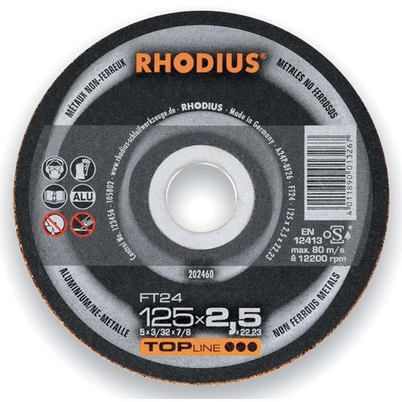 Disco corte aluminio rhodius ft24 180x2 5 swaiz commercial - Disco corte aluminio ...