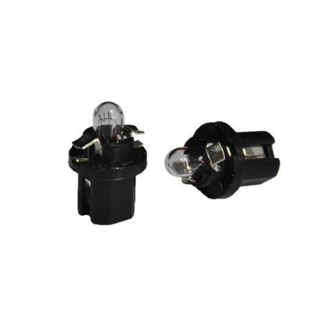 Caja 10 Lámparas halógenas mini B8.5D 1,2W Negro 12V