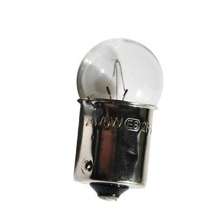 Caja 10 Lámparas halógenas mini G18 Ba15s 24V/5W Transparente