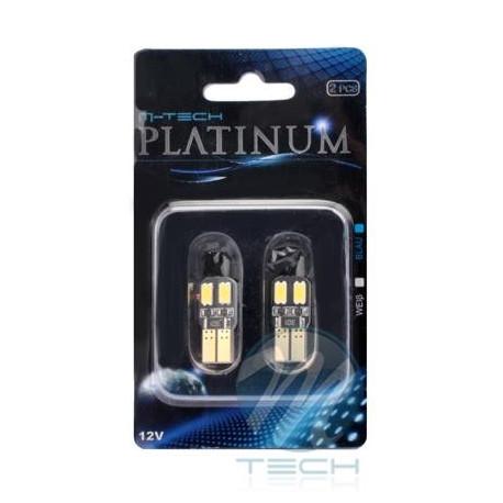 Blister 2x Lámpara led L323 - W5W 4xSMD 5630 CANBUS Blanco 12V