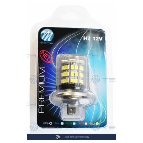 Blister 1x Lámpara led H7 X67 6xSMD5050 + 42xSMD3528 12V
