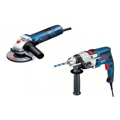 0615990FY5 Combo Bosch Taladro GSB 19-2 RE+ Miniamoladora GWS 7-115