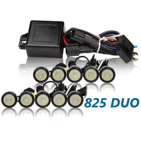 Luz diurna DRL LED 825HP DUO Negro RL+E8 2x20 High Power 12V