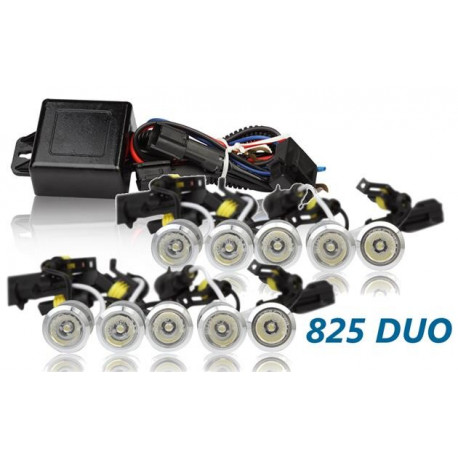 Luz diurna DRL LED 825HP DUO Plata RL+E8 2x20 High Power 12V