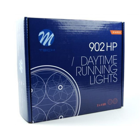 Luz diurna DRL LED 902HP RL+E4 2x4 High Power 12V