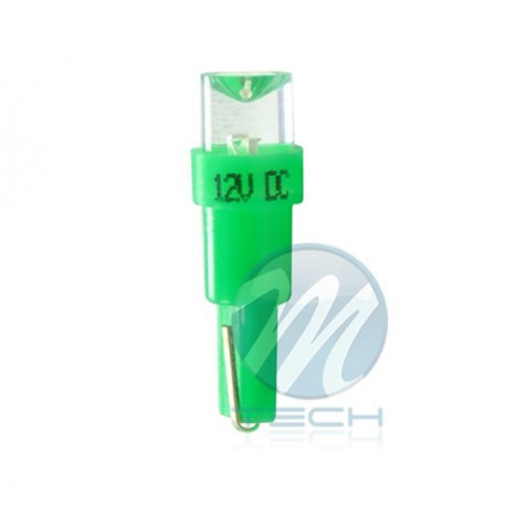 Lámpara led L002 - T5 cóncavo Verde 12V